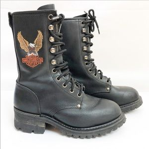 Harley Davidson | Black women combat boots